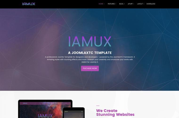 Joomla Template IAMUX    by JoomlaXTC