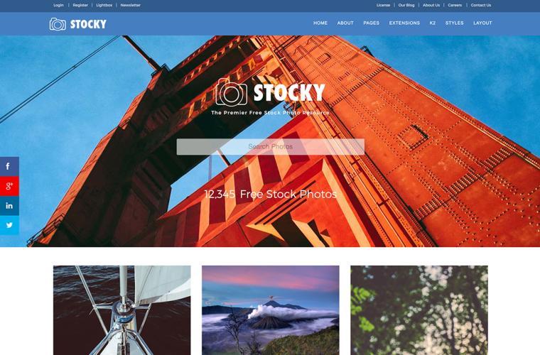 Joomla Template Stocky by JoomlaXTC