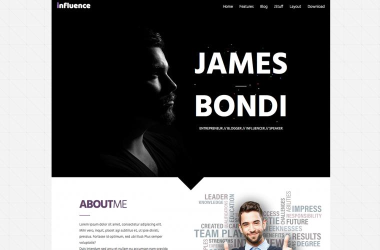 Joomla Template Influence by JoomlaXTC