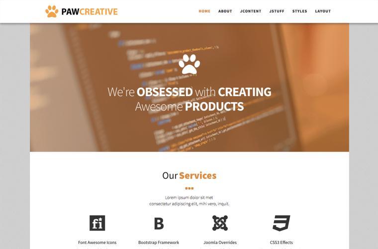 Joomla Template Paw Creative by JoomlaXTC