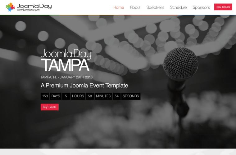 Joomla Template Joomla Day by JoomlaXTC