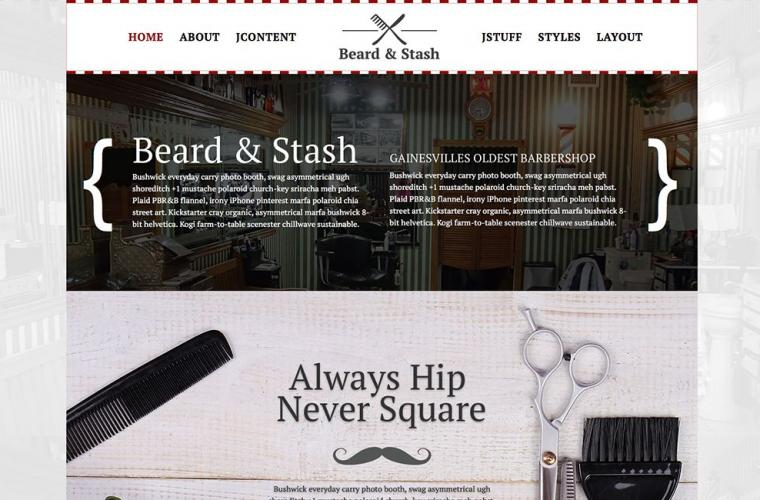 Joomla Template Beard & Stash by JoomlaXTC