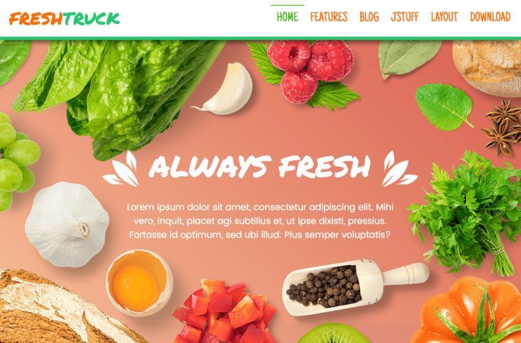 Joomla Template Fresh Truck by JoomlaXTC